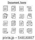 Document & File icon set in thin line style 54816807