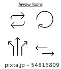 Arrow icon set in thin line style 54816809