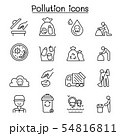 Pollution icon set in thin line style 54816811