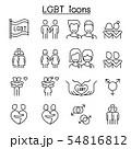 LGBT, Homosexual, gay, lesbian icon set in thin 54816812