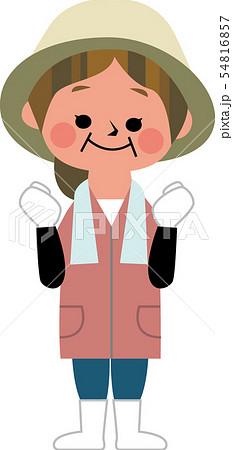 農家女性のガッツポーズ 54816857