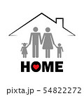 family under the roof home concept pictogram 54822272