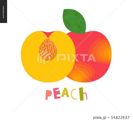 Food patterns, fruit, peach 54822637