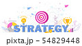 Business and marketing strategy. Trendy flat vector style typography 54829448