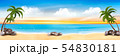 Summer vacation panorama. Tropical beach with a 54830181