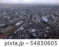 【空撮】富山市街 富山駅西口 カナルパーク 昼 横 54830605