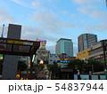 青空 白い雲 JR錦糸町駅北口 東京スカイツリー 54837944