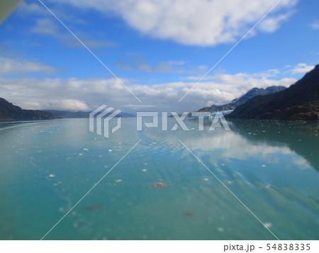 アラスカ 氷河湾 ジオラマ風 54838335