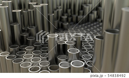 Abstract background of close up of metal pipe 54838492