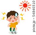 男の子 熱中症 Ⅱ度 イラスト 54840310