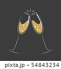 toasting with champagne celebration design 54843234