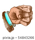 Color Male Hand Make Fist Gesture Vector 54843266