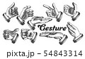 Collection of Different Gesture Set Vintage Vector 54843314