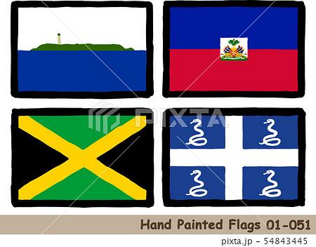 手描きの旗アイコン,ナヴァッサ島の旗,ハイチ国旗,ジャマイカの国旗,マルティニークの国旗 54843445