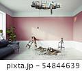 broken ceiling in the room. 54844639