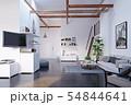 modern attic kitchen interior design. 54844641