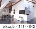modern loft kitchen interior design. 54844642