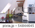 modern loft kitchen interior design. 54844645