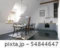 modern loft kitchen interior design. 54844647