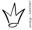 Hand drawn symbol of a stylized crown. Drawn with a black ink and brush. Vector illustration 54845967