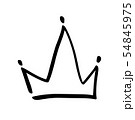 Hand drawn symbol of a stylized crown. Drawn with a black ink and brush. Vector illustration 54845975