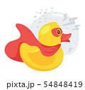 Rubber, plastic ducky flat vector illustration 54848419