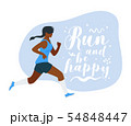 Run and be happy flat vector illustration 54848447
