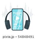 Podcast flat vector illustration 54848491