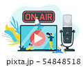 On air color flat vector illustration 54848518
