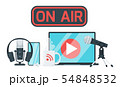 On air sign color vector illustration 54848532