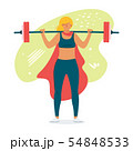 Female weightlifter flat vector illustration 54848533