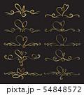Set Of Heart Decorative Calligraphic Elements 54848572