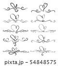 Set Of Heart Decorative Calligraphic Elements 54848575