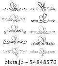 Set Of Heart Decorative Calligraphic Elements 54848576