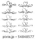 Set Of Heart Decorative Calligraphic Elements 54848577