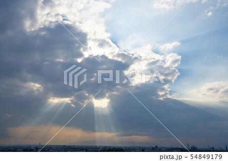 雲・光芒・天使の梯子 54849179