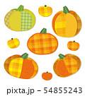 アップリケ風 かぼちゃ セット 54855243