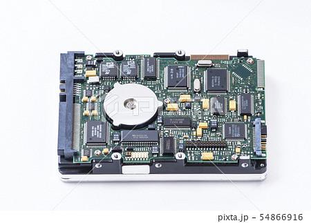 ハードディスク 電子基板 イメージ素材 HHD 54866916