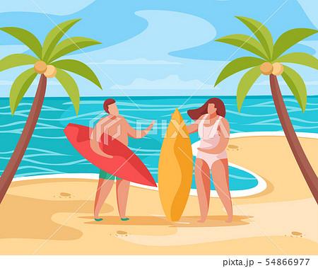 Beach Summer Concept Composition 54866977