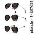 Aviator Sunglasses Realistic Set 54867035