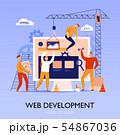 Web Construction Site Background 54867036