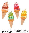 パッチワーク ハンドメイド ソフトクリーム セット 54867267