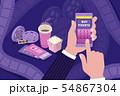 Cinema Ticket Online Isometric Composition  54867304