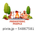 Prehistoric People Flat Composition  54867581