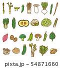野菜2 盛り合わせ バリエーション ベジタブル 素材 54871660
