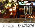 champagne glasses on christmas background 54873276
