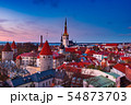 Tallinn view at sunset 54873703