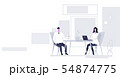 businesspeople man woman sitting at workplace desk business people couple working together 54874775