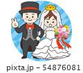 結婚式の新郎新婦 54876081