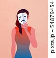 マスクを持った女性 54879454